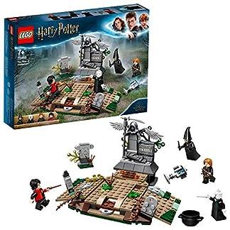 LEGO Harry Potter – Alzamiento de Voldemort, Juguete de construcción del Mundo Mágico, incluye Lápida de Tom Riddle y Minifigura de Voldemort, Novedad 2019 (75965)