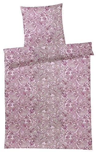 elegante Mako-Satin Bettwäsche Opus Rose Kissenbezug einzeln 40x80 cm - Paisley-satin-kissenbezug
