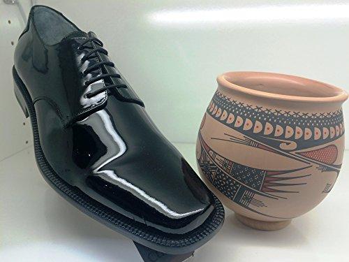 Franco Cuadra Patent Leather Shoes for Men Schwarz