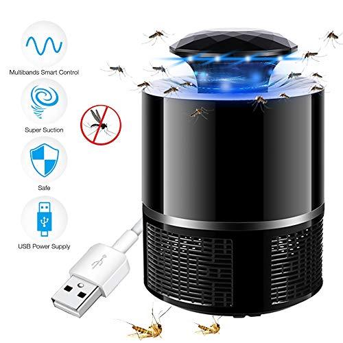 FeiGu Lámpara Antimosquitos – 5W Trampas para Insectos Matamoscas/Mata Mosquitos Eléctrico para Proteger a los niños, Mata Insectos con 368NM Luz Ultravioleta USB LED, Sin Productos Químicos