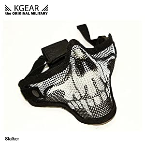 Kgear - Stalker G2 Camouflage bas de visage anti-condensation- Noir Skull