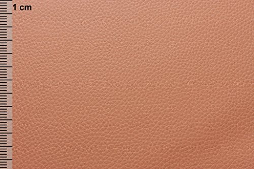Orange-nappa Leder (Auto Möbel Polster Sitzbezüge Kunstleder Meterware Apricot)