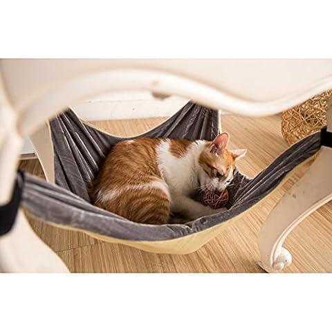 Lit de hamac de chat - doux chaud et confortable Pet Hamac Utilisation avec chaise pour chaton, furet, chiot ou petit animal de compagnie