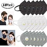 Funmo Atemschutz Masken,18 STK mundschutz Maske mit Filter, einwegmasken 5-Lagen...