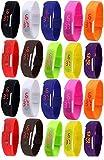 Pappi-Haunt Pack de 20 Relojes unisex con banda LED digital, artículos de regalo para niños, cumpleaños, fiesta