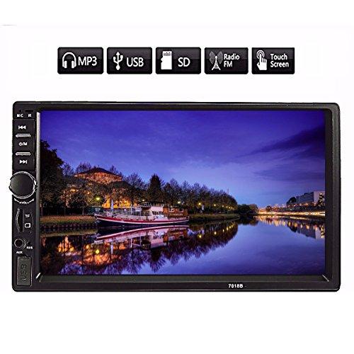 "AUDEW  7"" Autoradio Bluetooth Stereo Auto 2 Din MP3 / Radio Player HD Vivavoce AUX TF USB"