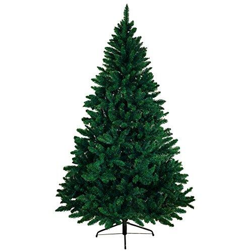 Bb sport albero di natale realistico 180 cm verde scuro abete natale artificiale