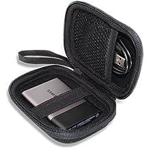 para Samsung T3/T5 Disco SSD portatíl (USB 3.1, 3.0 y 2.0, velocidad hasta 450 MB/s) Portable External Solid State Drive 250GB 500GB 1TB 2TB Hard Shockproof Almacenamiento Viajar que Lleva Caja Bolsa Fundas por VIVENS