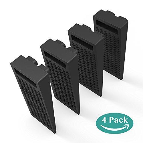 Gummi Türstopper, Türstopper 4er-Pack Türstopper Höhenverstellbar ungiftig Kein unangenehmer Geruch - Schwarz