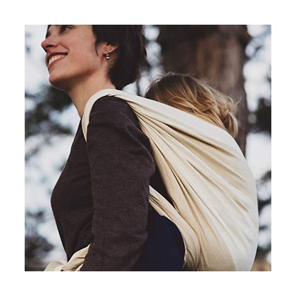 Hoppediz Kairo Woven Baby Sling Hoppediz Suitable from birth until parent or child chooses to stop carrying 100% Cotton Special broken twill weave 3