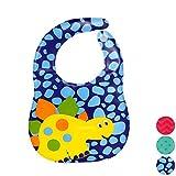#9: Zigma's Waterproof Baby Bib Apron With Adjustable Size (BLUE)