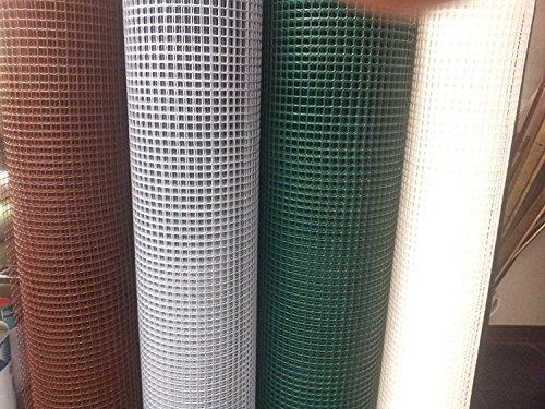 Des Grillage en plastique pour balcon et clôtures - Renforcé sur les côtés longs - Vert - Hauteur de rouleau 1 m Longueur 25 m -