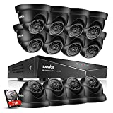 SANNCE 2TB HDD 16-Channel 1080N DVR Video Surveillance System W/ 12 720P Hi-Resolution