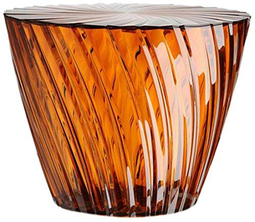 Kartell Sparkle Container, Bambus, Amber, 45 x 35 x 45 cm (Bambus-designer Schatten)