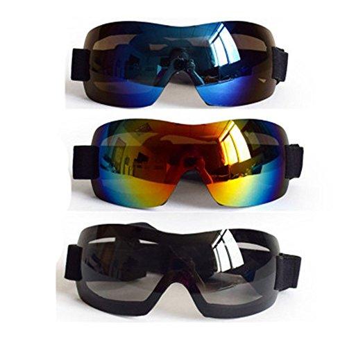 FENG Ultra - dünnen Sonnenbrille Pet - Brille großer Hund Sonnenbrille Hund Mittlerer windschutzscheibe UV - Schutz, Sand, Staub Brille,Schwarz