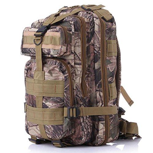 fulanda Rucksack Outdoor Tactical Rucksack Sport Camouflage Tasche für Camping Reisen Wandern Trekking Dead leaves Camouflage