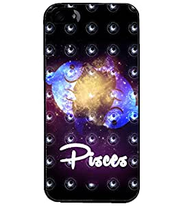 PrintDhaba Zodiac Pisces D-3238 Back Case Cover for APPLE IPHONE 4S (Multi-Coloured)