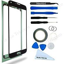 Kit de Reemplazo de Pantalla Táctil para Samsung Galaxy S5 SM G900 Negro. Incluye Pinzas / Cinta adhesiva 2 mm / Kit de Herramientas / Limpiador de Microfibra / Alambre Metálico / Manual de Instrucciones MMOBIEL