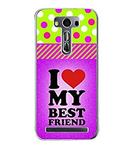 Fiobs Designer Back Case Cover for Asus Zenfone 2 Laser ZE550KL (5.5 Inches) (Best Friend Quote Violet)
