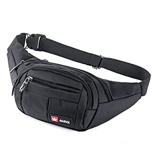 51sVxCTrUoL. SS300  - AirZyx Bumbags and Fanny Packs for Running Hiking Waist Bag Outdoor Sport Hiking Waistpack for Men Women