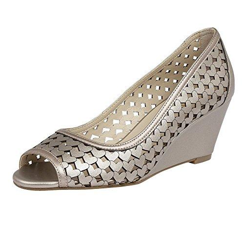 Lotus Valetta Womens Wedge Heel Shoes 5 Pewter