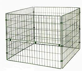 myGardenlust Gitter Komposter - Schnellkomposter aus Stahl mit Kunststoff - Thermokomposter mit Klappe - Kompostierer stabil und hochwertig - Composter für Garten-Abfälle Grün - mit Klappe | 660L