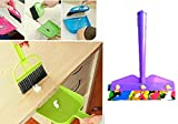 #1: Combo Of Mini Wiper And Mini Dustpan Set For Cleaning Laptops,Keyboard For Dining Tables,Kitchen Platform,Dining Table,Car's Seats,Carpets Etc