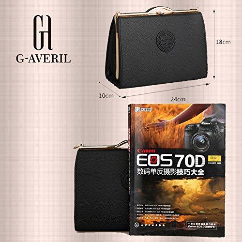(G-AVERIL) Moda spalla sacchetto impermeabile borsetta di pelle sintetica grigio