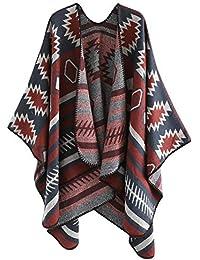 KaloryWee Châle Femme écharpe Casual épaisse Chaud Doux Fashion La Mode Hiver  Solide Longue Manche Gland 121e3cfeb89