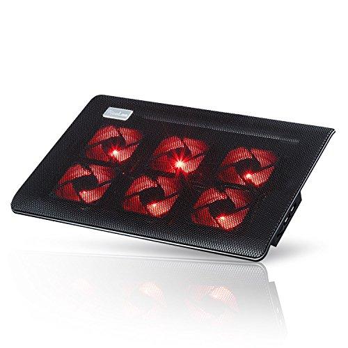 Laptop-PC Kühler | 10-15.6 Zoll | 6 Lüfter | maximale Kühlung | 2 USB Ports | Gamer Gamimg Stützhalterung RooLee