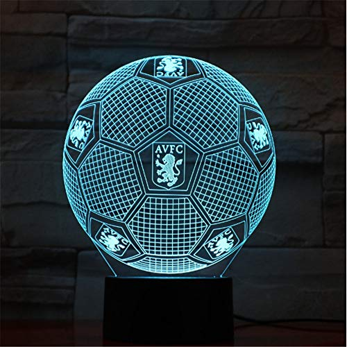 Flache Lampe 3D des Ball-LED Acrylnachtlampe mit 7 Farbänderung für Andenkensammlungs-Fußball-Fan-Geschenk