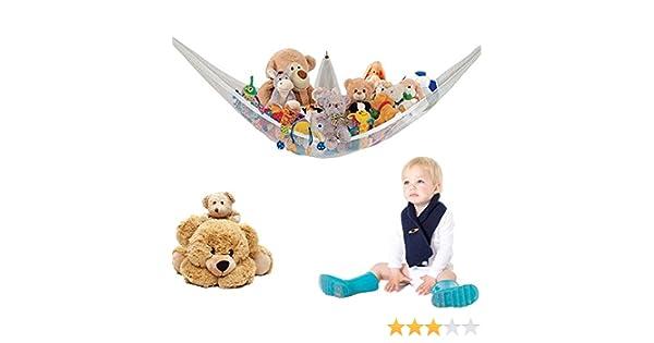 LARGE HAMMOCK STORAGE TIDY KIDS PLAYROOM BEDROOM NURSERY TEDDY TOYS GAMES BABY