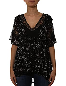 Twin-Set Mujer PS72TP100 Negro Poliéster Blouse