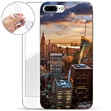 finoo   iPhone 7 Plus Weiche flexible Silikon-Handy-Hülle   Transparente TPU Cover Schale mit Motiv   Tasche Case Etui mit Ultra Slim Rundum-schutz   New York Abend