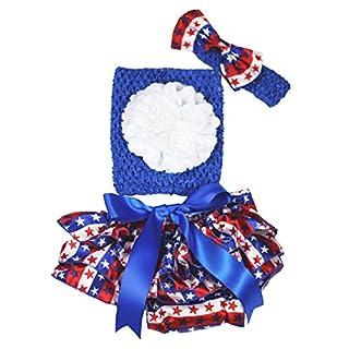 4. Juli Kleid Blau Tube Top Design RWB Stars Stripe Baby Rock Outfit Set 3-12M Gr. M, blau