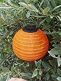 LED Solar Lampion Warmweiss - Wetterfeste Garten Beleuchtung Party Laterne (orange, 20 cm)