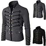 QinMM Männer Mantel Jacke Gothic Sticken Knopf Mantel Uniform Kostüm Praty Outwear Gericht Stil Steampunk Jacke S-XXXXXL