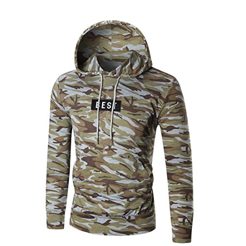 Preisvergleich Produktbild Herren Hoodie Pullover Btruely Winter Mode Männer Kapuzenpullover Langarm Mit Kapuze Mantel Männer Hooded Sweatshirt Retro Outwear (L,  Tarnung)