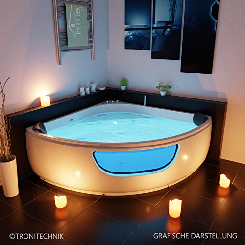 ... TroniTechnik Whirlpool Badewanne PAROS, Maße:150cm X 150cm ...