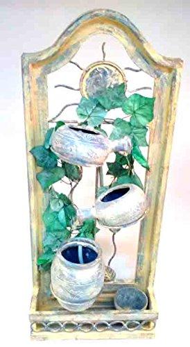Kaskaden-Wandbrunnen VENUS mit Blumentopf und Wasserpumpe, 85 x 35 x 13 cm