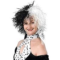 Evil Dalmation Madame Cruella Wig (peluca)