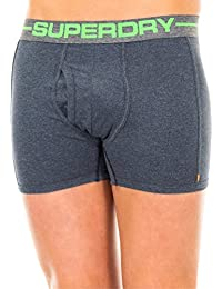 Superdry Mens Sport Boxer Double Pack in Black Jaspe and Navy Grindle