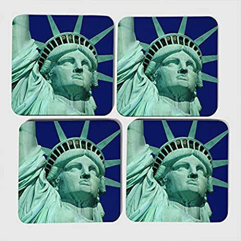 Arty Pie Coasters (Set of 4) The Statue of Liberty New York City (3)