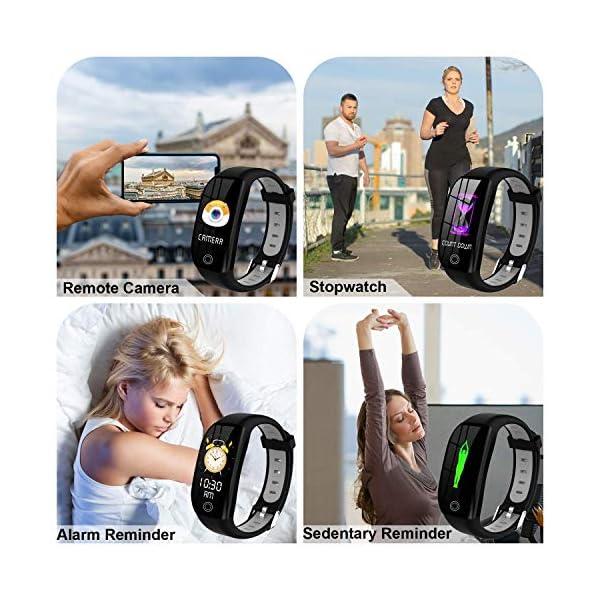 Tipmant Smartwatch, Relojes Inteligentes Mujer Hombre Niños Impermeable IP68 Pulsera Actividad Inteligente con… 6