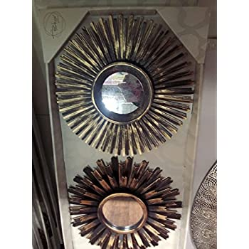 3 Piece Multiple Finish Sunburst Mirror Set, Wall Accent ...