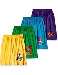 dongli Boys Pretty Printed Shorts (Pack of 4)