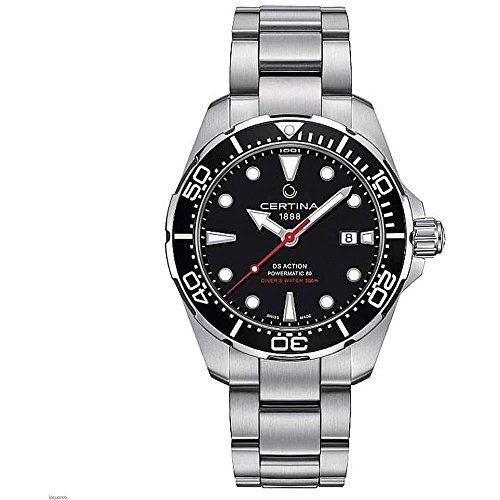 Certina C032.407.11.051.00 DS Action - Reloj automático de Pulsera para Hombre, Acero de 43 mm