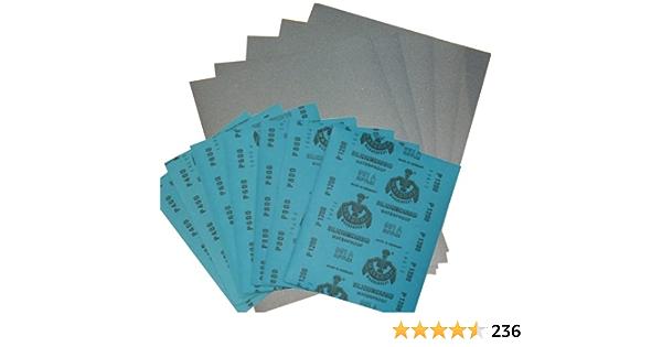 1 Set Wasserschleifpapier 6 Blatt Je 1 Blatt 800 1000 1200 1500 2000 3000 Nassschleifpapier Fein Auto