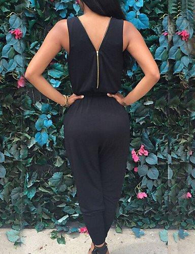 GSP-Combinaisons Aux femmes Sans Manches Décontracté Polyester Moyen Non Elastique black-xl