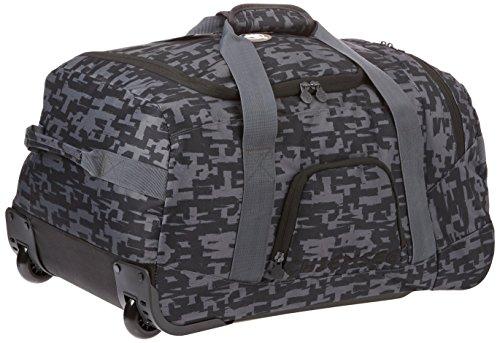 Chiemsee Reisetasche Rolling Duffle Medium, Rollenreisetasche Typo Black